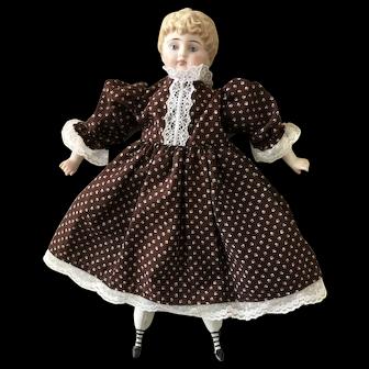 "Bark brown cotton dress for app 13"" doll"