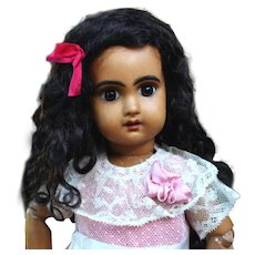 Abigail ~ Black Curly Mohair wig with Extensions, Size 12-13
