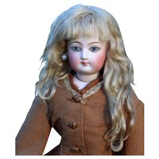 Gabrielle ~ Chestnut blond Mohair Wig with Extensions, Size 6-7