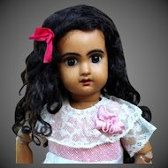 Abigail ~ Black Curly Mohair wig with Extensions, Size 7-8