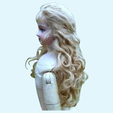 Luxury Mohair Wig with Long Tails for French Fashion or Smaller Bebe ~ Size 7-8