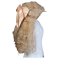 Vintage French Fashion Mohair Wig on Cloth Cap for 18-20 inch fashion