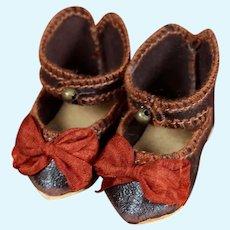 "Jumeau Shoes for a size 3 Bebe, 1 7/8"""