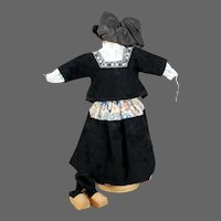 Antique Dutch Costume Complete, 10 inches