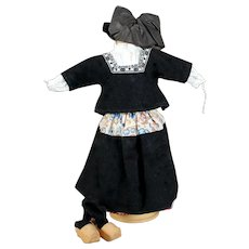 Antique Dutch Costume Complete, 10 inches