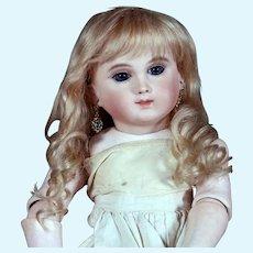 Gabrielle size 9 ~  Antique-Style Medium Blond Mohair Wig