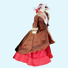 French Fashion Doll Three Piece Ensemble