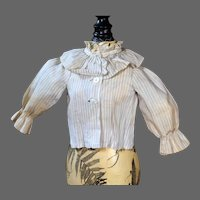Antique Pin Striped Blouse for Fashion Doll