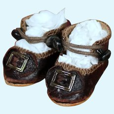 Fine Leather Shoes for Bru Bebe, 2 inches