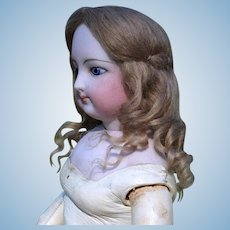 French Fashion Mohair Wig, Long Curls,  size 6-7