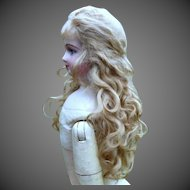 Luxury Mohair Wig with Long Tails for French Fashion or Smaller Bebe ~ Size 6-7