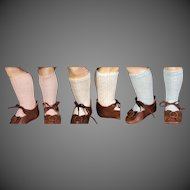 """Cotton Lace Knit Bebe Socks, 1 Pair for 10-12"""" doll or 12-14"""" doll"""