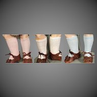 """Cotton Lace Knit Bebe Socks, 1 Pair for 16-18"""" doll"""