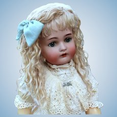 Grace ~ (Size 11-12) Blond Side Part with Extensions Mohair Wig