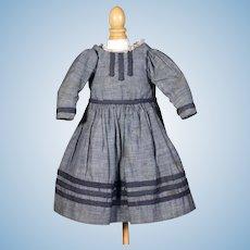 Vintage Blue Cotton Dress