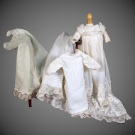 Antique Christening Ensemble for a Small Doll ~ Lovely!