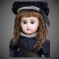Alice ~ Dark Brown Mohair Wig, Size 12-13