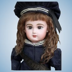 Alice ~ Dark Brown Mohair Wig, Size 12-13