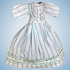 Cotton Striped Flower Dress, Well Made