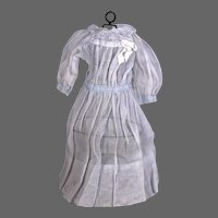 Organdy Doll Dress, Pale Blue for Larger Doll