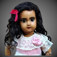 Abigail ~ Black Curly Mohair wig with Extensions, Size 8-9