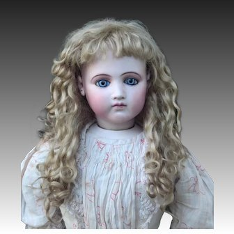 Gabrielle ~ Chestnut blond Mohair Wig with Extensions, Size 8-9
