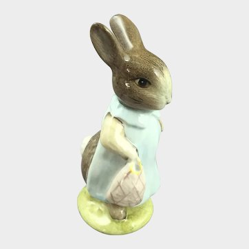 Beatrix Potter Royal Albert Mrs Floppy Bunny Figurine c.1965