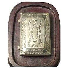 Vintage Harvey Era Sterling Silver Pill Box