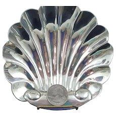 Vintage 60's Mexican Sterling Silver Shell Dish by Salvador De La Serna