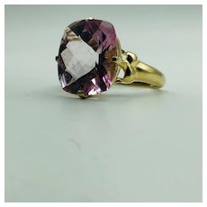 Rose/Pink  Stone, 14K gold Clyde Duneier Ring