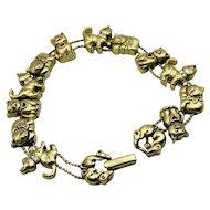 Vintage Avon Slider Cat Bracelet