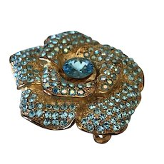 1950/60's Pav'e Brooch and Fur Clip