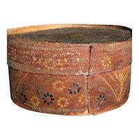 "Early Antique Primitive German PA Dutch Decorative Pantry Box 4"" Original Paint Old Patina"