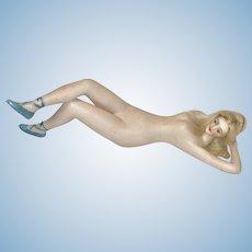 """Superior Early German 6"""" Galluba Hoffman German Bisque Bathing Beauty Original Blonde Wig Braids All Original NM+"""