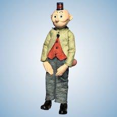 Early Antique SABA Swiss Bucherer Happy Hooligan Comic Character 1920's Switzerland