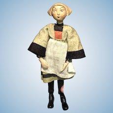 Early Antique SABA Swiss Bucherer Becassine Comic Character 1920's Switzerland