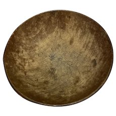 """Early Antique 1800's Primitive 1"""" Miniature Exceptional Treen Bowl All original Fantastic Condition Small Treen Bowl"""