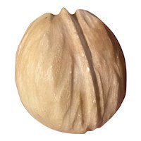 Early Italian Stone Fruit Alabaster Walnut Rare Early Stone Nut NM+ Exceptional Example