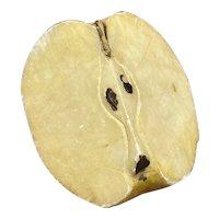 Early Vintage Italian Alabaster Stone Fruit 1/3 Alabaster Apple Fantastic Example Rare