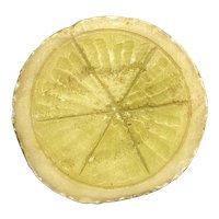 Early Vintage Italian Alabaster Marble Stone Fruit Alabaster Half Stone Lemon Rare Example