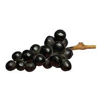 Early Vintage Italian Alabaster Stone Fruit Alabaster Dark Purple Grapes Fantastic Example