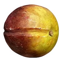 Early Antique Italian Alabaster Stone Fruit Alabaster Yellow Red Plum Fantastic Example