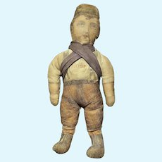 """Early 15"""" Ceresota Flour Cloth Advertising Cloth Lithograph Doll Original Early Cloth"""