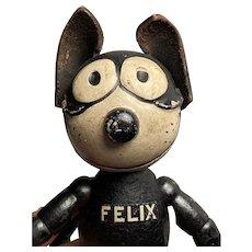 "Early Antique 1922 Schoenhut 8""Wooden Felix The Cat Strung Fantastic Example Nice Size All Original"