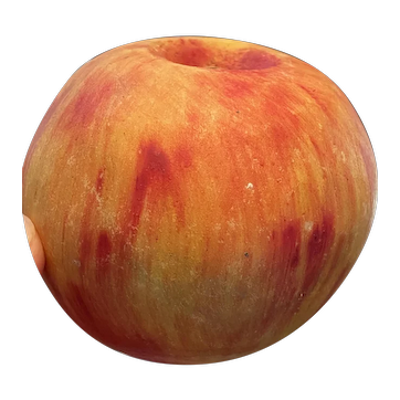 Vintage Italian Alabaster Stone Fruit Yellow Red Apple Great Patina Exceptional Example