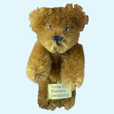 """Rare Antique Miniature Schuco Jointed Brown 2"""" Shuco Bear Made In West Germany"""
