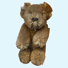 "Rare Antique Miniature Schuco Jointed Tan Beige 2"" Shuco Bear Made In Germany"