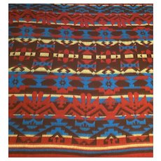 "Vintage 1930's Beacon Blanket Camp Blanket Southwest Beacon 6ft"" X 5ft"" 69"" X 59"" Beautiful Design"