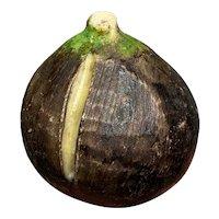 Early Italian Alabaster Stone Fruit Marble Dark Fig Alabaster Fig Green Stem NM+