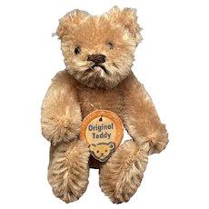 "Early Miniature Steiff Jointed 3"" Brown Teddy Bear w/ Original Steiff Tag NM+"